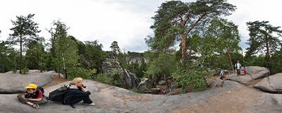 Prachovské skály in Bohemian Paradise.  Click to view this panorama in new fullscreen window