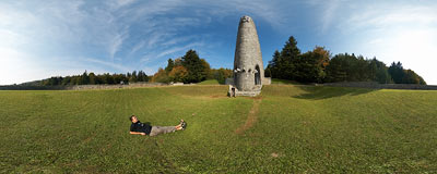 Dukliansky priesmyk monument, commemorating soldiers who died in 1944 during the Dukla Pass operation.  Click to view this panorama in new fullscreen window