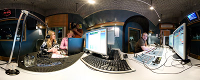 Beata Kozidrak, a famous Polish singer, was the first guest on the live broadcast of the RMF Extra internet radio station.  Click to view this panorama in new fullscreen window