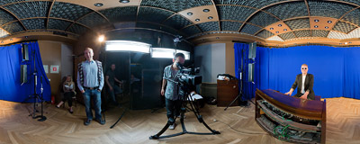"Making of ""The RMF FM Hit of the Year"" ad.  Click to view this panorama in new fullscreen window"