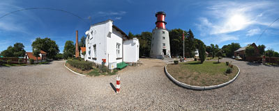 Rozewie lighthouse.  Click to view this panorama in new fullscreen window