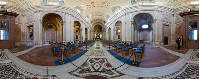 Inside the church of Sant'Alessio on the Aventine Hill in Rome, Italy.  Click to view this panorama in new fullscreen window