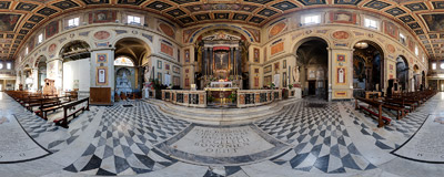 Inside the church of San Lorenzo in Lucina in Rome, Italy.  Click to view this panorama in new fullscreen window