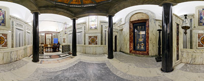 The Chapel of the Passion Relics in the Basilica of Santa Croce in Gerusalemme in Rome.  Click to view this panorama in new fullscreen window