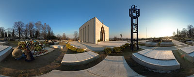 Kraków - Salwator cemetery.  Click to view this panorama in new fullscreen window