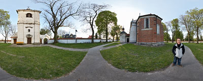 St. Paul's church in Sandomierz.  Click to view this panorama in new fullscreen window