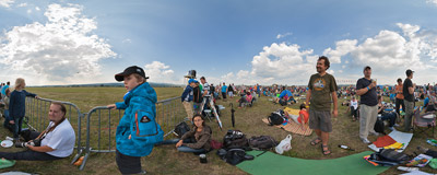 Front-row seats at the SIAF 2013 air show in Sliač, Slovakia.  Click to view this panorama in new fullscreen window