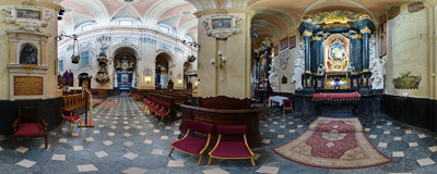 "The 18th century Baroque church of St. Michael and St. Stanislaus, called ""Na Skałce"" (""On the Rocks"") - Altar of St. Stanislaus (1745).  Click to view this panorama in new fullscreen window"