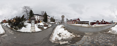 Starý Smokovec - main street.  Click to view this panorama in new fullscreen window