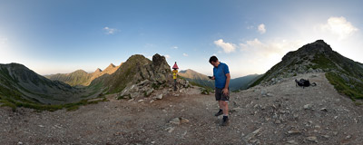 Smutné sedlo ('Sad Pass', 1963 m) in Slovak Tatra mountains.  Click to view this panorama in new fullscreen window
