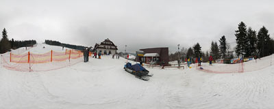 Spytkowice - ski lift.  Click to view this panorama in new fullscreen window
