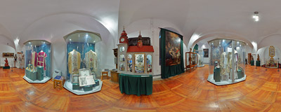 A small museum in the Benedictine monastery in Staniątki.  Click to view this panorama in new fullscreen window