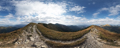 Malá Fatra - Steny.  Click to view this panorama in new fullscreen window