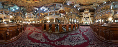 Inside the 17th-century wooden Church of Peace in Świdnica.  Click to view this panorama in new fullscreen window