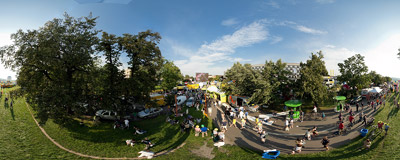The final stage of the 68th Tour de Pologne cycling race.  Click to view this panorama in new fullscreen window