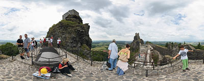 Trosky Castle in Bohemian Paradise.  Click to view this panorama in new fullscreen window