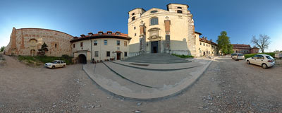 Benedictine abbey in Tyniec.  Click to view this panorama in new fullscreen window