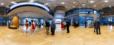 Warsaw Stock Exchange - the main floor.  Click to view this panorama in new fullscreen window