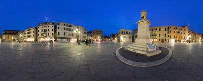 Campo Santo Stefano in the San Marco district of Venice, also known as Campo Francesco Morosini.  Click to view this panorama in new fullscreen window
