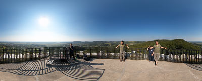 On the tower of the Lipowiec castle in Babice.  Click to view this panorama in new fullscreen window