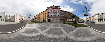 Zlaté Hory: a small and sleepy town in the Olomouc Region of the Czech Republic, near the Polish border.  Click to view this panorama in new fullscreen window