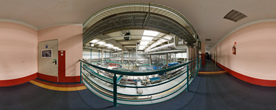 The can filling line of the Żywiec Brewery.  Click to view this panorama in new fullscreen window