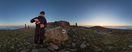 Friday, Sep 9, 2016: Pouring a freshly brewed coffee on the summit of Babia Góra (1725 m)