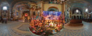 Wednesday, Dec 26, 2007: Nativity scene in the Franciscan church of Saint Casimir in Kraków