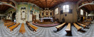 Saturday, Jul 7, 2012: Inside the 17th-century wooden church of St. Martin in Marcyporęba (Wadowice County, Southern Poland)
