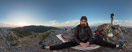 Sunday, Jun 25, 2017: Watching the sunrise on the summit of Sivý vrch (1805 m) in Slovak Tatra mountains