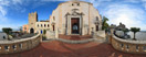 Saturday, Apr 12, 2014: A quiet morning by the church of San Giuseppe on Piazza IX Aprile in the centre of Taormina, eastern Sicily